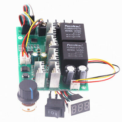 Pwm Speed Controller Motor Display 0100 Adjustable Drive Module Max60a 12v 24v