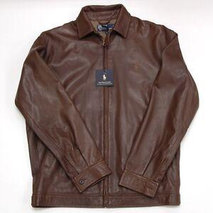 Polo Ralph Lauren Leather Windbreaker Jacket Genuine