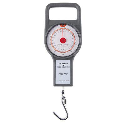 Black Toolzone Ms066 50kg Fishing Pocket Spring Balance Weighing Scale