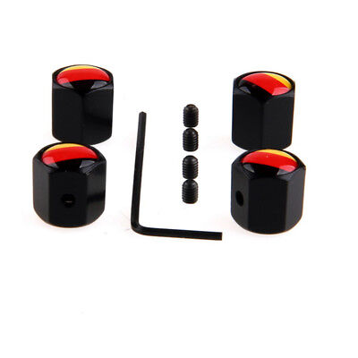 1 SET Germany Flag Car Truck Wheel Tyre Valve Stem Air Caps Anti-Theft Universal