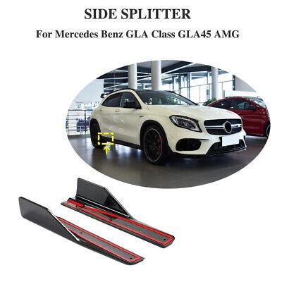 für Mercedes GLA250 GLA45 AMG 15-19 Seitenschweller Wings Flaps Splitter Carbon