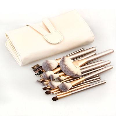 24pcs/set Makeup Brushes Face Powder Eyeshadow Lip Brush Kit Free Pouch Bag
