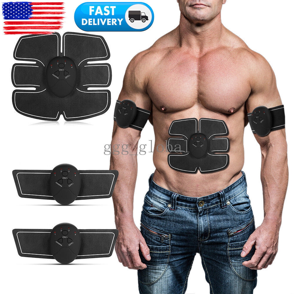 Abs Stimulator Muscle Toner Abdominal Electric Toning Belt F