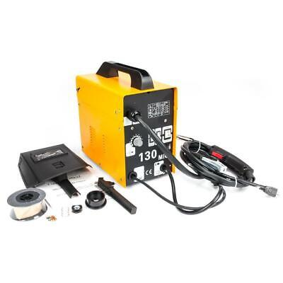 Mig130 110v Flux Core Auto Feed Welding Machine Welder 50-120 Amp Yellow