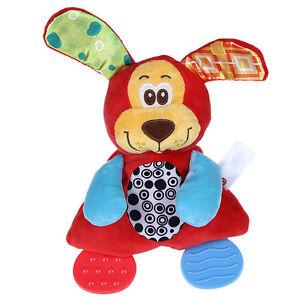 doudou mouchoir anneau de dentition jouet saisir chien pour b b enfant ebay. Black Bedroom Furniture Sets. Home Design Ideas