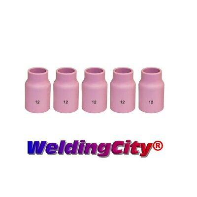 Weldingcity 5-pk Large Gas Lens Ceramic Cup 53n87 12 Tig Welding Torch Usa