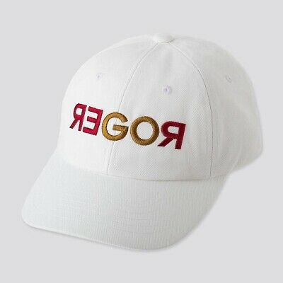 Brand New Roger Federer Shanghai 2019 Red Gold Go Roger White Hat Uniqlo