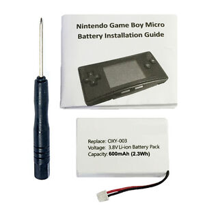 600mAh OXY-003, GPNT-02 Battery Kit for Nintendo Game Boy Micro OXY-001