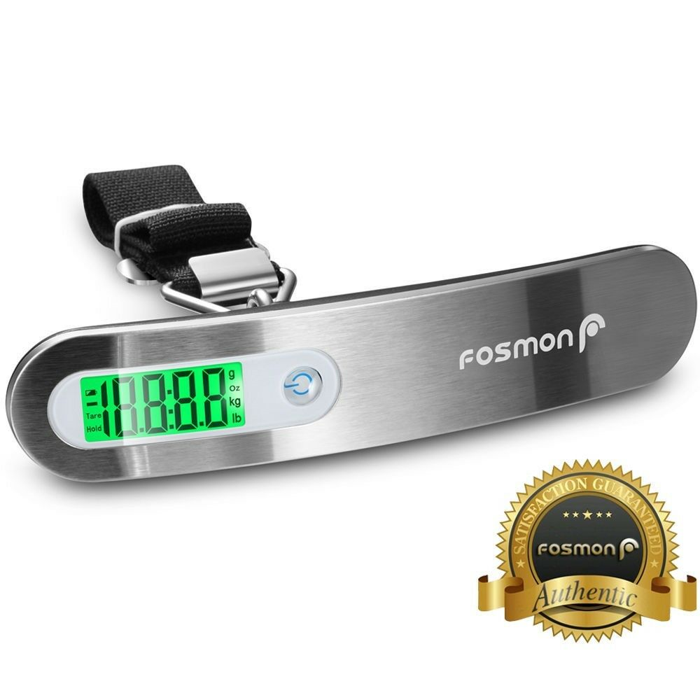 Купить Fosmon - Portable Travel 110lb / 50kg LCD Digital Hanging Luggage Scale Electronic Weight
