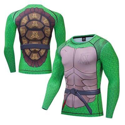 Ninja Turtle Rashguard Costume Cosplay Compression Tights Quick-Drying T-Shirts - Ninja Turtle Costumes