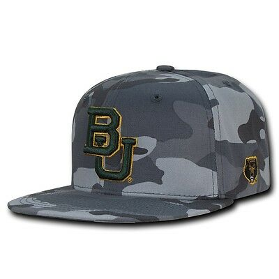 ster University Tarnfarbe Snapback Baseballkappen Hut (Baylor Farben)