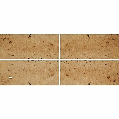 Exotic Maple Burl Wood Veneer Rawunbacked 4 Pc Pack - 16 X 36 Total