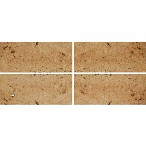 """Exotic Maple Burl Wood Veneer Raw/Unbacked (4 pc Pack - 16"""" x 36"""" Total)"""