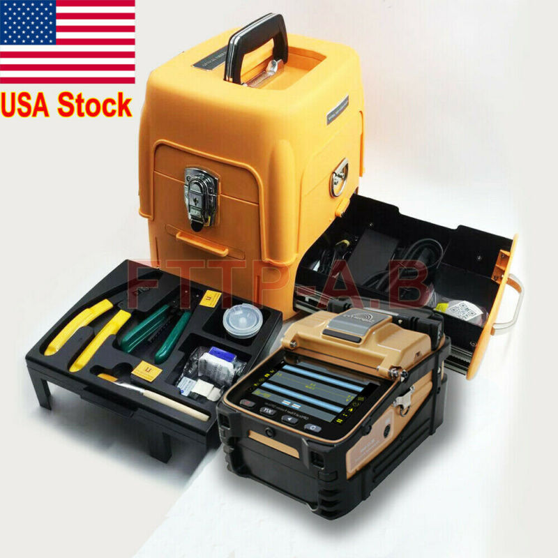 FTTH Fiber Fusion Splicer Kit / AI-8C Fiber Optic Splicing machine/Fiber Cleaver