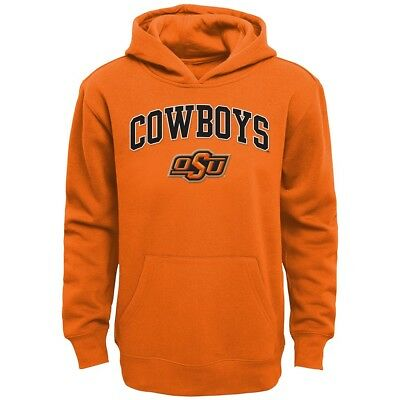 Oklahoma State Cowboys NCAA Primary Team Logo Pullover Hoodie Fleece Youth S-XL (Fleece Oklahoma Pullover)