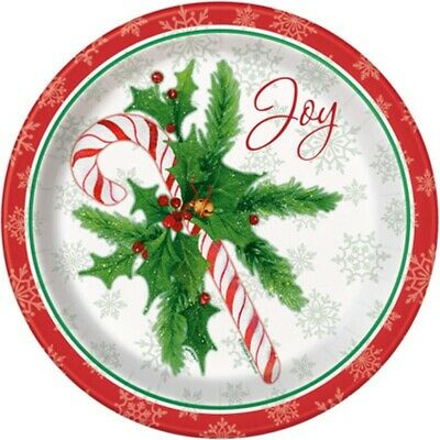 Candy Cane Christmas Joy 8 Ct Paper Dinner Luncheon 9