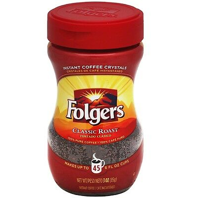 - Folgers Classic Roast Instant Coffee 3 oz