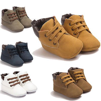 Baby Boys Girls Toddler Shoe Light Leather Shoes Winter Snow Infant Soft Sole