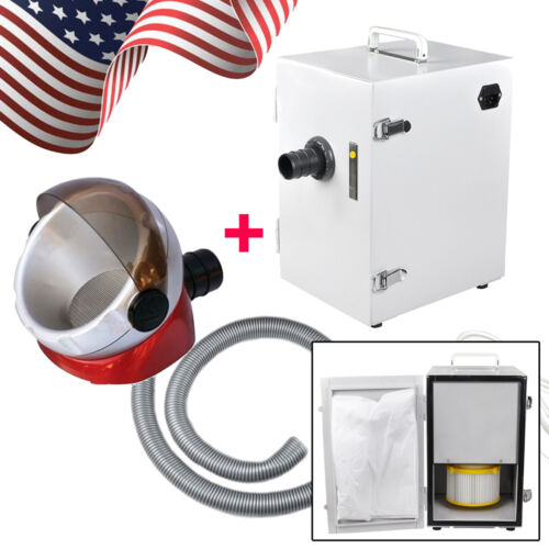 Portable Dental Lab Digital Single-Row Dust Collector Vacuum Cleaner + Suction