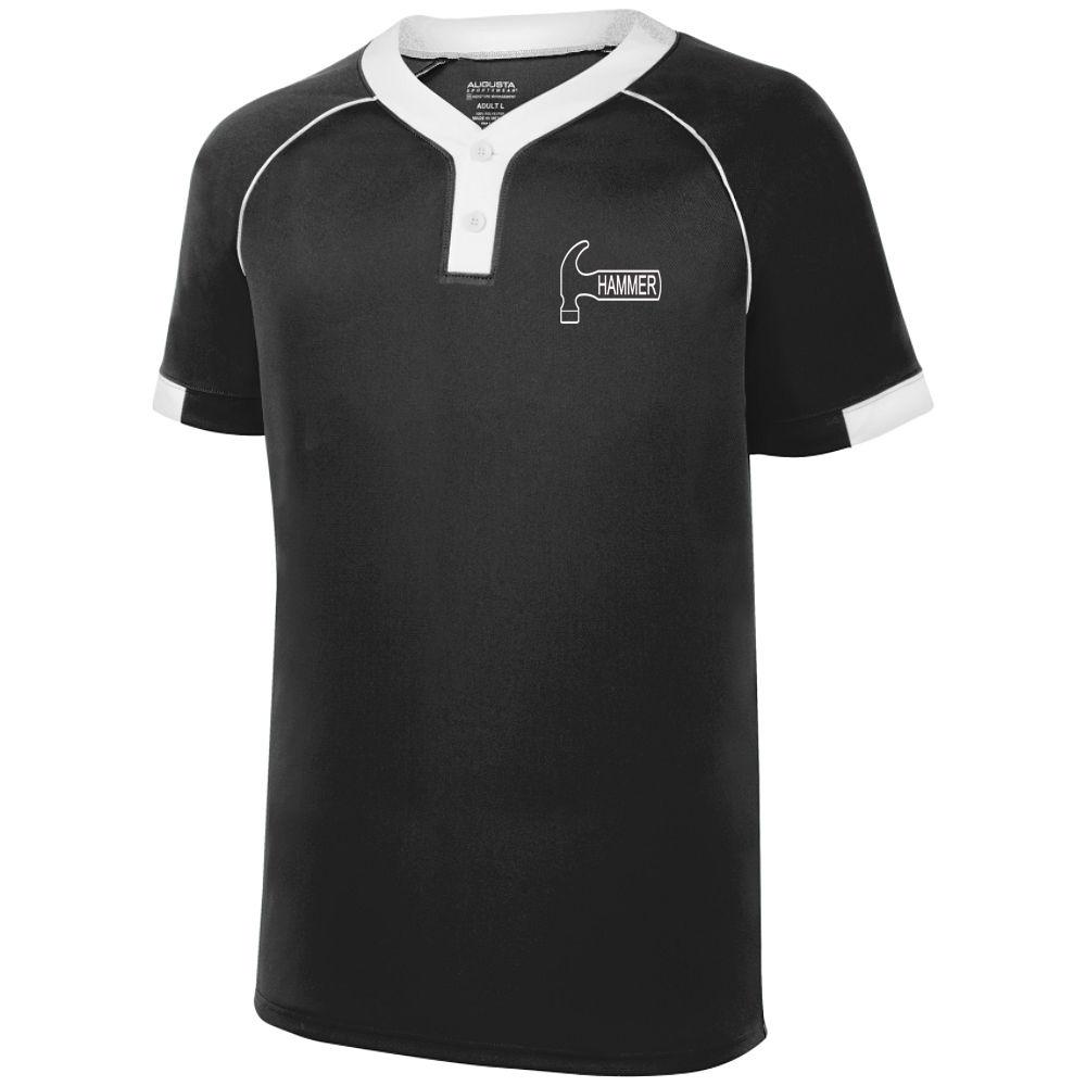 Hammer Men's Plague Performance Jersey Bowling Shirt Dri-fit Black