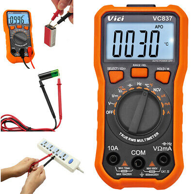 Digital Multimeter 6000 Counts True Trms Auto Range Dc Ac Current Meter Ncv Fast