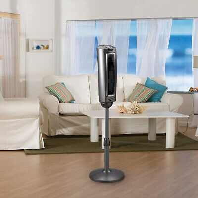52″ Tower Fan With Remote Control Oscillating Pedestal Space-Saving Fan, Lasko Heating, Cooling & Air