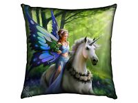 Cushion Silk Finish Realm of Enchantmen by Anne Stokes 42cm (Nemesis Now) = NEW