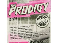 THE PRODIGY O2 BRIXTON ACADEMY LONDON 22 DECEMBER 2017 x1 STANDING TICKET SOLD OUT!