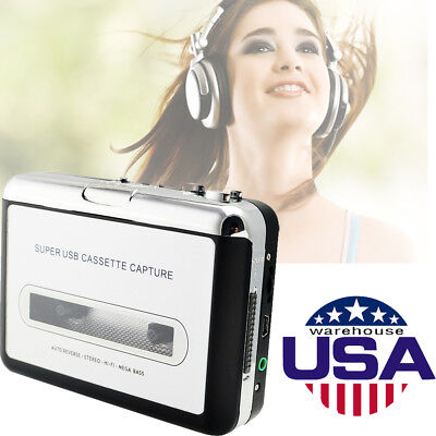 USA Mini USB Cassette Tape to MP3 iPod CD Converter Capture Audio Music Player
