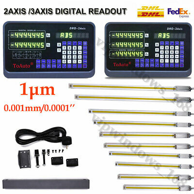 0.0001 Digital Readout Ttl Linear Glass Scale Encoder Cnc Milling High Accuracy