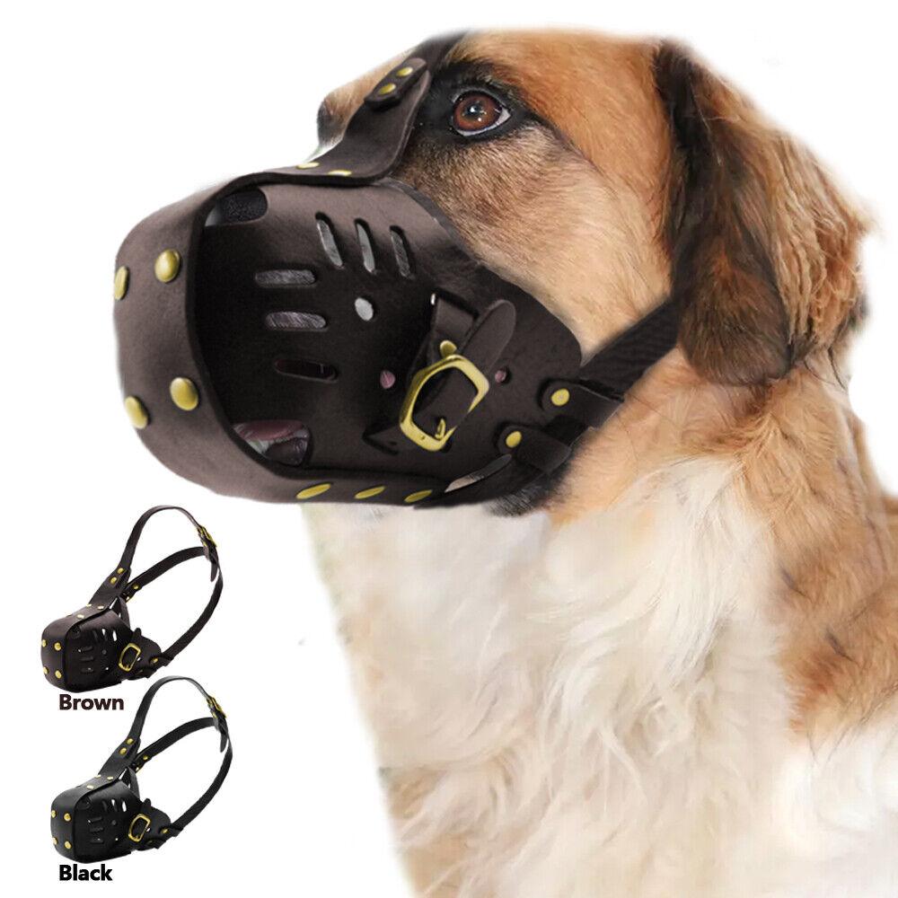 Dog Muzzle Soft Genuine Leather