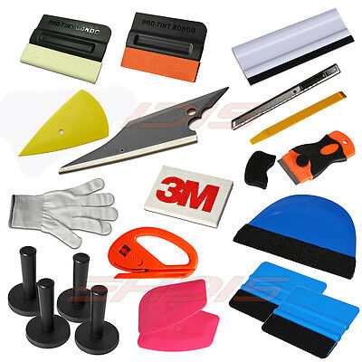 Professional Auto Car Window Tint Tools Kit  Decals Wrap Application Squeegee US