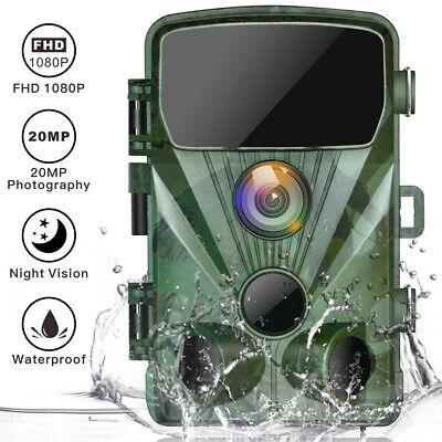 TOGUARD 20MP Trail Camera Waterproor Wildgame Hunting Cam 1080P PIR Night Vision