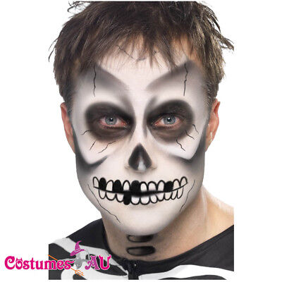 Mens Skeleton Make Up Kit Scary Bones Day of the Dead Halloween Costume Dress