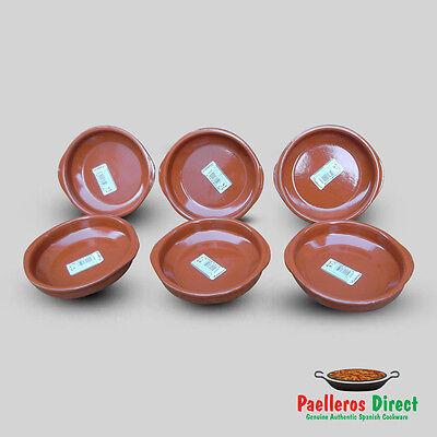 Set of 6 x 14cm Spanish Terracotta Tapas Dishes / Cazuelas
