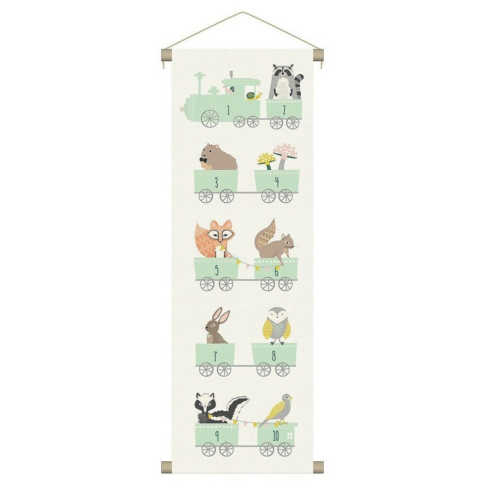 Canvas Wall Banner Nursery Childs Room Number Train Whimsica
