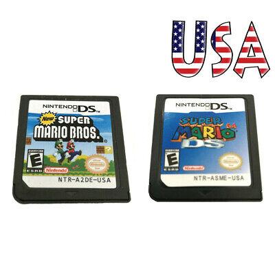 MARIO 64 DS+Super Mario Bros Game Card For Nintendo 3DS DSI DS XL Xmas Gift US