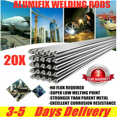 20pcs Melt Flux Cored Aluminium Welding Rods Brazing Easy Solder Low Temperature