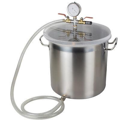 110/220V 5 Gallon Stainless Steel Vacuum Degassing Chamber Silicone w Pump Hose segunda mano  Embacar hacia Argentina