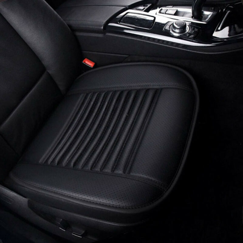 UK Breathable Car Front Seat Cushion Chair Protector Pad Driver Mat Covers Black