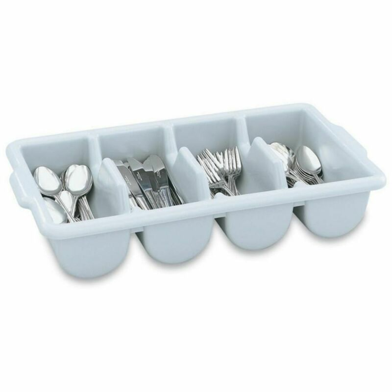 Vollrath 52651 4-Compartment Gray Cutlery Box