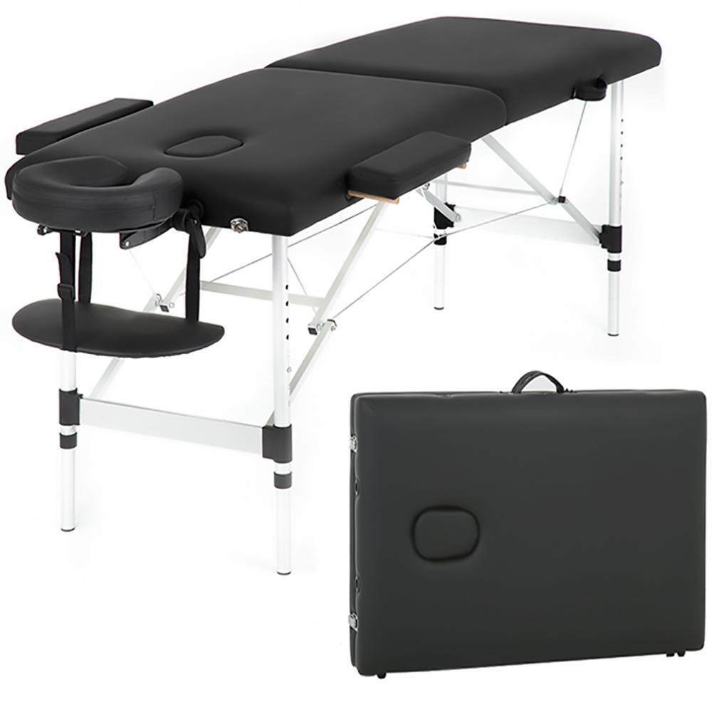 "Massage Table Heigh Adjustable 2 Fold W/Face Cradle 73"" Portable Aluminium Bed Health & Beauty"