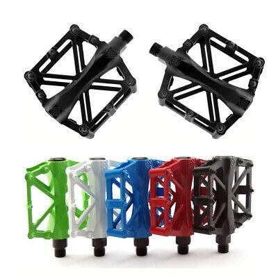"Road Mountain Bicycle Pedals 9/16"" Aluminum MTB BMX Cycling Bike Flat Platform (Best Mountain Bike Platform Pedals)"