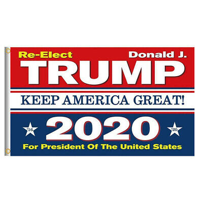 Re-Elect Trump 2020 President US Keep America Great Make Donald 3×5 Ft Flag USA Décor