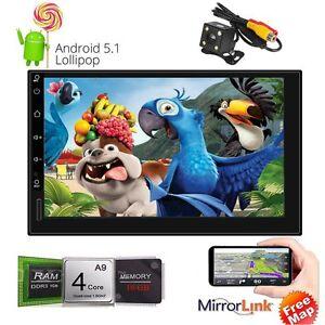 2Din-Android-5-1-Core-GPS-Nav-1024-600-Autoradio-Bluetooth-Wifi-3G-MP5-CAM-DHL