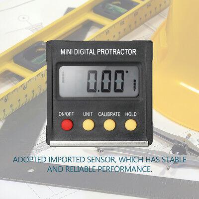 Multifunctional Mini Digital Display Protractor Inclinometer Level Meter O8E6