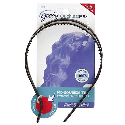 Goody Ouchless Flex Pressure-Free Headband Black 1 ea (Pack of 2)](Goody Beads)