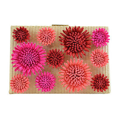 NEW Kate Spade New York Floral Emanuelle Montigo Avenue Clutch Natural