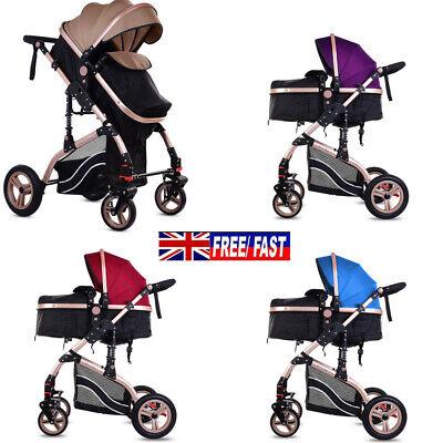 Baby Pram Buggy Car Seat Carrycot Newborn Pushchair 2 in 1 Baby Travel System