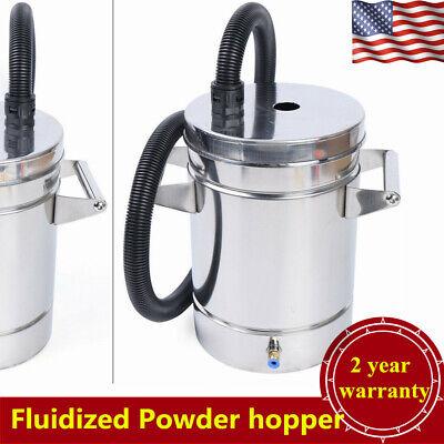 Stainless Steel 304 Fluidized Powder Hopper For Powder Coating Machine Wpipe